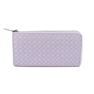 Bottega Veneta Intrechart L-shaped zipper long wallet Lavender Purple