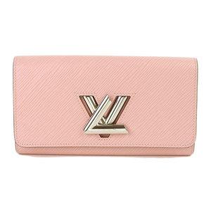 LOUIS VUITTON Louis Vuitton Epi Portofeuil twist long wallet pink silver metal fittings M61178
