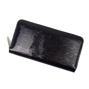 Louis Vuitton LOUIS VUITTON Epi Electric Zippy Wallet Long Round Fastener Black Women's Men's