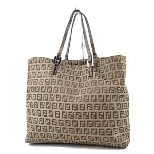 Fendi FENDI made in Italy zucca tote bag handbag canvas leather beige mens ladies 鞄