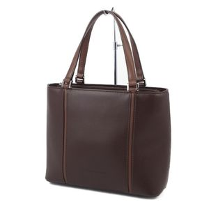 Burberry BURBERRY Ladies Back Check Handbag Leather Bag ブ ラ ウ ン Brown