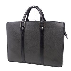 Louis Vuitton LOUIS VUITTON Business Bag Taiga Porto Documan Rozan M30052 Briefcase Ardoise (Dark Gray) Men's Made in France