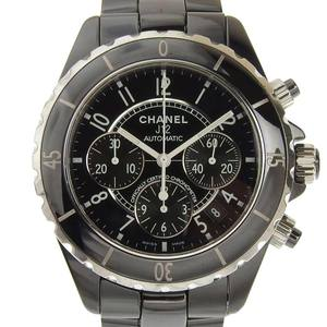 Chanel CHANEL J12 Chronograph 41 mm Men's Automatic Winding Watch Black H0940