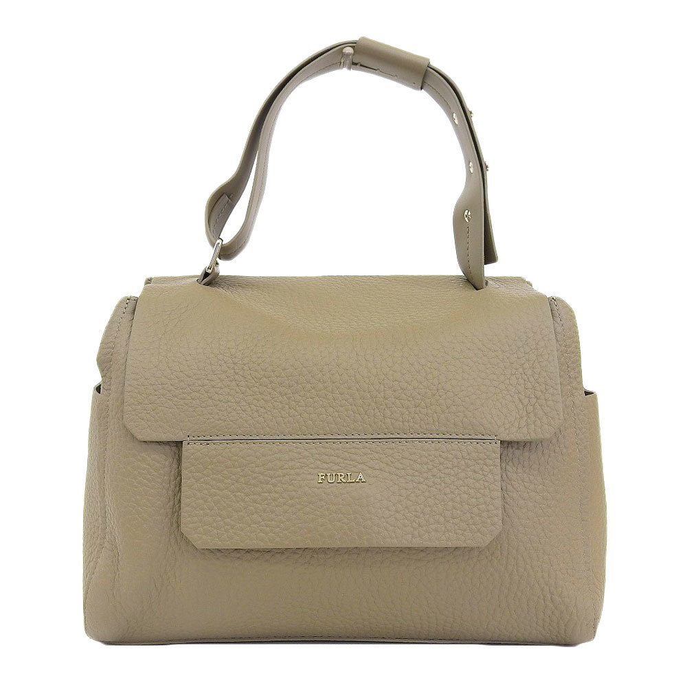 Capriccio CAPRICCIO leather handbag M light brown 851496 BJI4 QUB SBB with full la FURLA tag