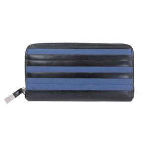 Dior Homme 2018 Product Prisse Round Fastener Long Wallet Black x Blue 2BKBC011XLN