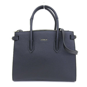 Furla FURLA 2019 current sale product PIN 2way shoulder tote bag satchel leather black reference price 60000 yen with Shibuya Tokyu purchase certificate