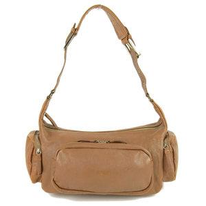 BREE leather original handbag shoulder brown