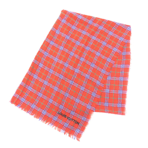 Louis Vuitton Etol Masai Check 100% Cotton Muffler Stall Madras Red Blue Green Spring Summer