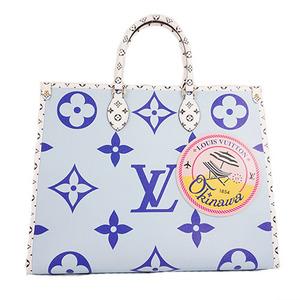 Auth Louis Vuitton Monogram M44720 FL1139 Handbag Blue