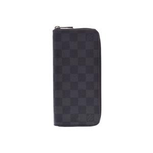 ルイ・ヴィトン(Louis Vuitton) ルイヴィトン グラフィット ジッピーヴェルティカル 黒 N63095 メンズ 本革 長財布 新同 美品 LOUIS VUITTON 中古 銀蔵