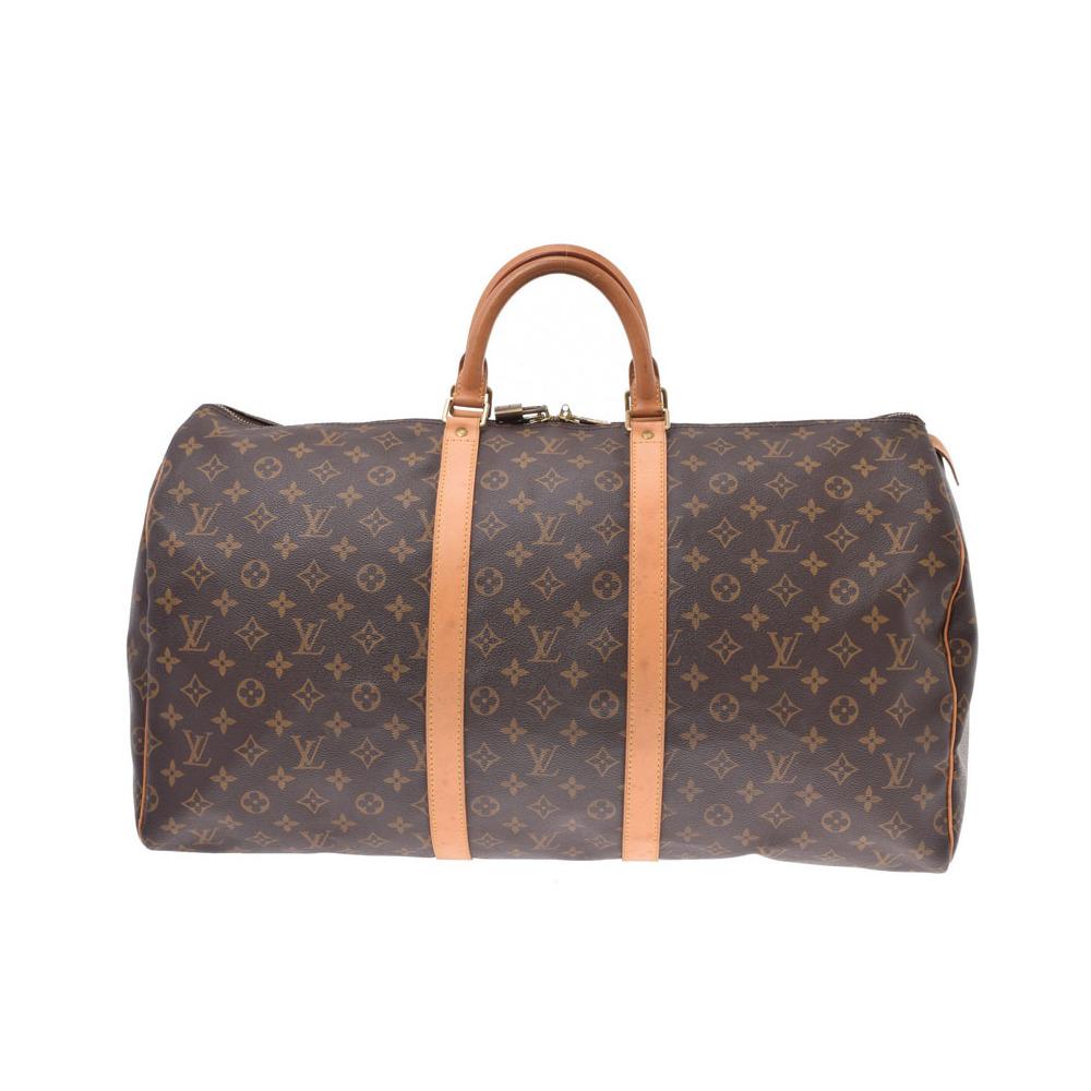 ルイ・ヴィトン(Louis Vuitton) ルイヴィトン モノグラム キーポル55 ブラウン M41424 メンズ レディース 本革 ボストンバッグ Bランク LOUIS VUITTON 中古 銀蔵