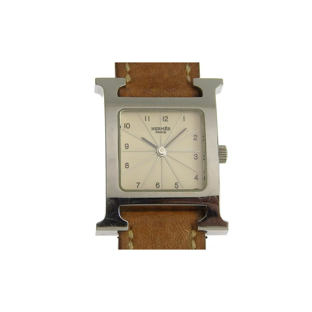 Genuine HERMES Hermès H Watch Doublet Ladies Quartz Wrist HH1.210