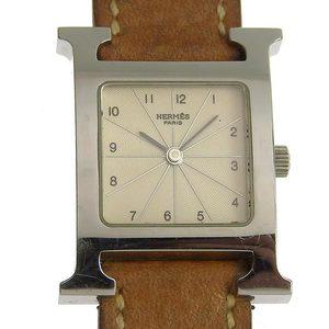 HERMES Herm?s H Watch Doublet Quartz Ladies Wrist HH1.210