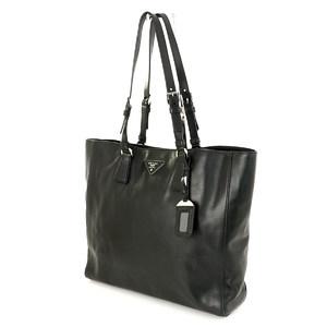 Prada Black Soft Calf BR5033 Tote Bag Unisex