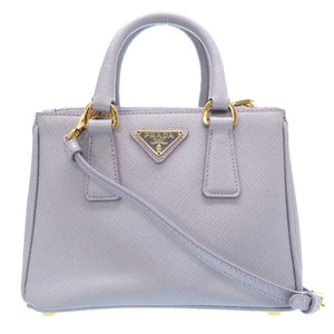 Prada Saffiano Lux Leather Purple BN2842 2WAY Handbag Bag 0226 PRADA