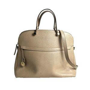 Furla FURLA PIPER M DOME 2WAY handbag 265328 leather beige ladies shoulder bag