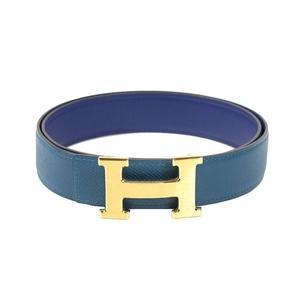 Hermes Constance Constance H Belt Men's Standard Belt Blue 85