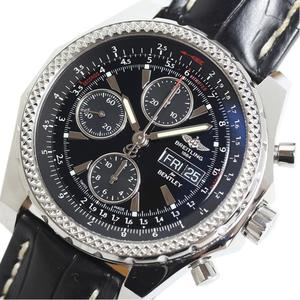 Breitling BREITLING Bentley GT A13362 black leather belt automatic winding men watch