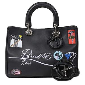 Christian Dior Diorissimo Paradise M0902PSKY Black Handbag Ladies