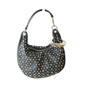 Jimmy Choo JIMMY CHOO Studded Handbag Black Ladies