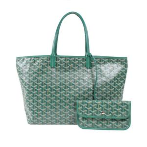 Goyard GOYARD Saint Louis PM coated canvas leather green tote bag