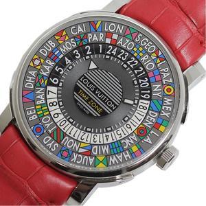 Louis Vuitton LOUIS VUITTON Escale Otomatic Time Zone Q5D20 Automatic Men's Watch