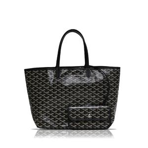 Goyal GOYARD Saint Louis PM Black Hemp Cotton Calf Tote Bag Ladies