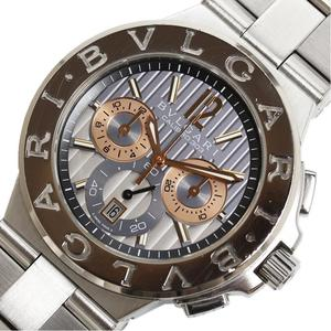 Bvlgari BVLGARI Diagono Caribro 303 DG42SWSCH WG SS Automatic winding men's watch