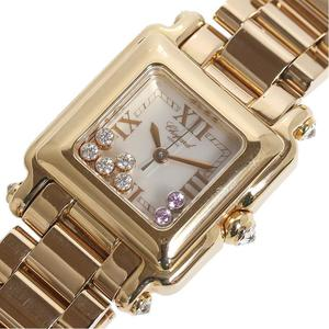 Chopard Happy Sport Square 27 6851-20 PG Solid Quartz Ladies Watch
