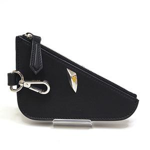 FENDI Fendi Bag Bugs Coin Case 7M0251 Black Calf Leather