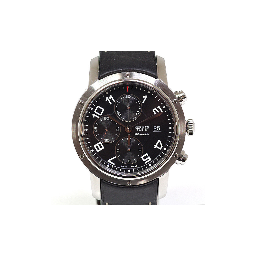 HERMES Clipper Chronograph Steel Automatic Mens Watch CP1.910