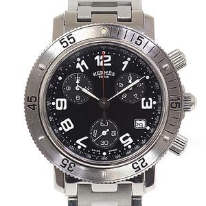 HERMES Hermes Men's Watch Clipper Divers Chronograph CL2.910 Black Dial Quartz
