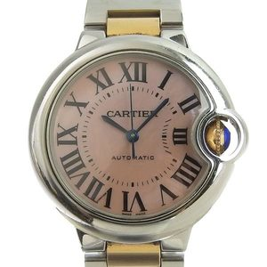 Genuine Cartier Baron Blue Ladies Automatic Watch Shell Dial W6920070