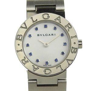 Genuine BVLGARI Bulgari Ladies Quartz Watch BB23SS Shell Dial 12P Sapphire