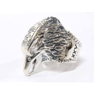 GUCCI Gucci Anger Forest Eagle Head SV925 Silver Ring 鷲 No. 14 20190829