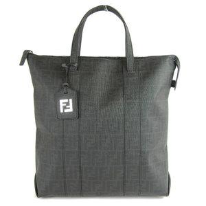 FENDI PVC FF logo tote bag black 7VA196