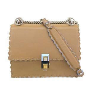 Fendi FENDI Mini Canai Leather Chain Shoulder Bag Brown Ladies * BG