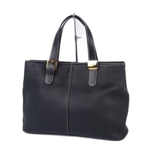 Burberry Burberrys All Leather Back Check Handbag Ladies Black Vintage