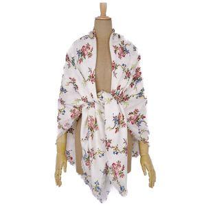 Louis Vuitton LOUIS VUITTON 18SS Monogram Flower Print Stole Shawl Wool Silk White Ladies Domestic Genuine