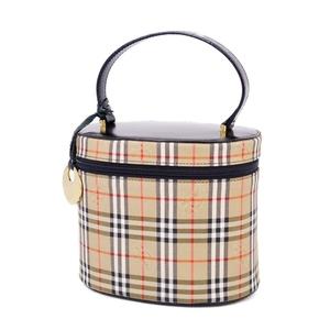 Burberry BURBERRY Horse Ferry Check Vanity Bag Handbag Ladies Brown Black