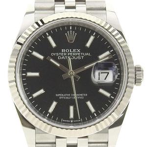 Rolex ROLEX Datejust Black Dial Men's Automatic Watch 126234
