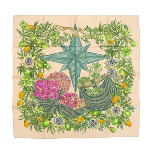 Hermes HERMES Carre 90 PASSIFLORES passion flower scarf