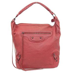 Balenciaga BALENCIAGA The City Editors Bag One Shoulder Leather Red 140442