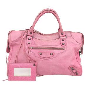 Balenciaga BALENCIAGA The City 2WAY Bag Leather Pink 115748