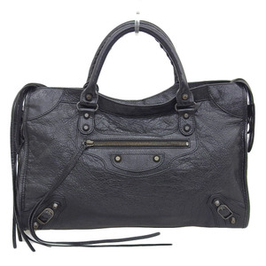 Balenciaga BALENCIAGA The City Editors Bag 2WAY Leather Black 115748