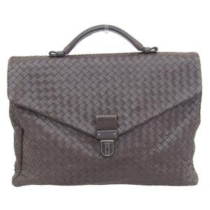 Bottega Veneta BOTTEGA VENETA Intrechart Briefcase Leather Brown 113095