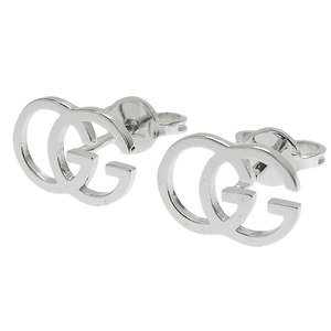 Gucci GUCCI GG studs logo earrings K18WG 1.8g