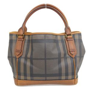 Burberry BURBERRY Nova Check PVC Tote Bag Brown