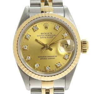 Rolex ROLEX Datejust 10P diamond full frame ladies watch 69173G S number