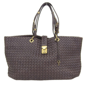 Bottega Veneta Intrechart Tote Bag Leather Brown 162197